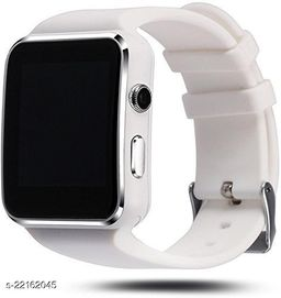 Goosprey X6 Bluetooth Smartwatch White Compatible with Android and IOS Mobiles