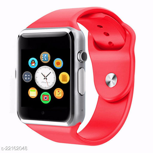 Goosprey A1 Bluetooth Smartwatch Red Compatible with Android and IOS Mobiles