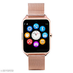 Goosprey Z60 Bluetooth Smartwatch Golden Compatible with Android and IOS Mobiles