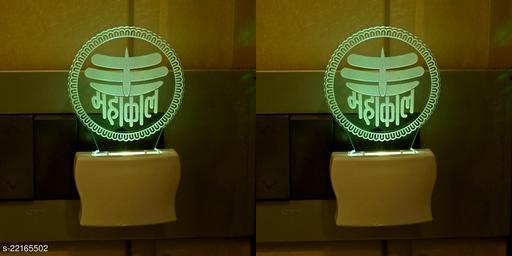 Afast 3D Illusion Effect Mahakal Shiva Multi Colour LED Night Lamp , (Pack Of 2)