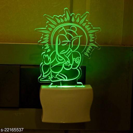 Afast 3D Illusion Effect Ganesha Multi Colour LED Night Lamp