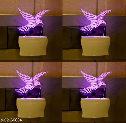 Afast 3D Illusion Flying Eagle LED Plug & Play Wall Lamp , (Pack Of 4)