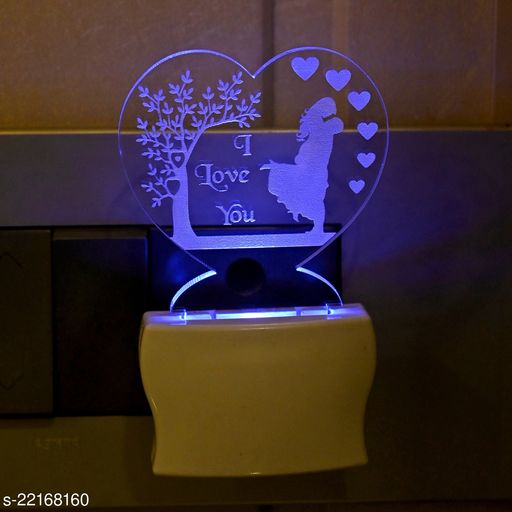 Afast 3D Illusion The Couple Multi Colour LED Night Lamp