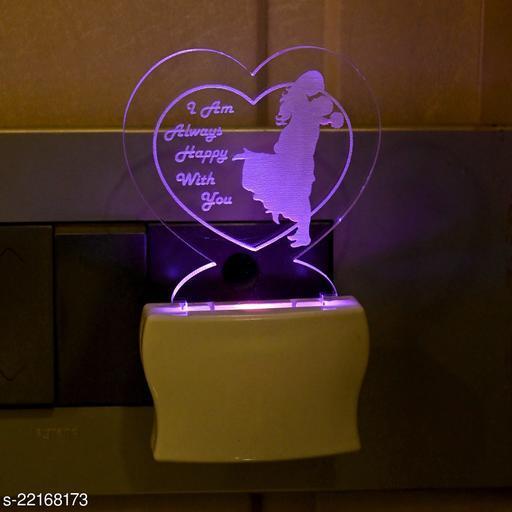 Afast 3D Illusion Effect The Love Couple Multi Colour LED Night Lamp