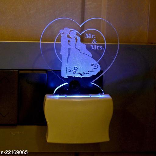 Afast 3D Illusion Mr. & Mrs. Multi Colour LED Night Lamp