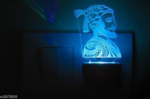 Afast 3D Illusion Chatrapti ShivaJi LED Night Lamp