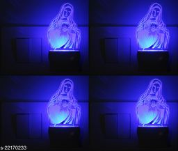 Afast 3D Illusion Graceful Saint Mary LED Night Lamp  , (Pack Of 4)
