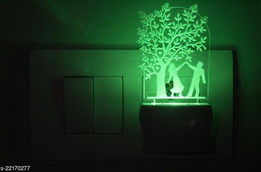 Afast 3D Illusion Dancing Under Tree Couple LED Night Lamp