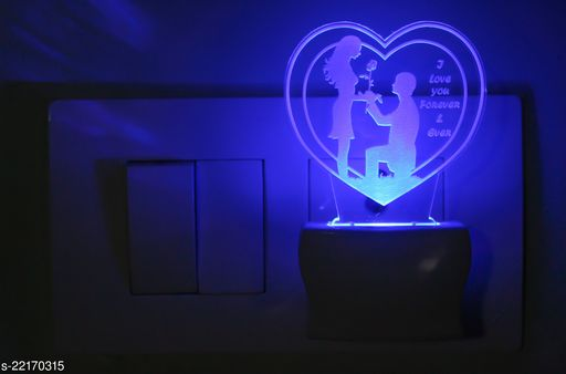 Afast 3D Illusion Purposing Couple LED Night Lamp