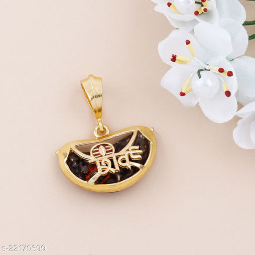SILVER SHINE Gold Plated Classic designer Pendant Locket Shiv Trishul Pendant  Jewellers For Man And Boy