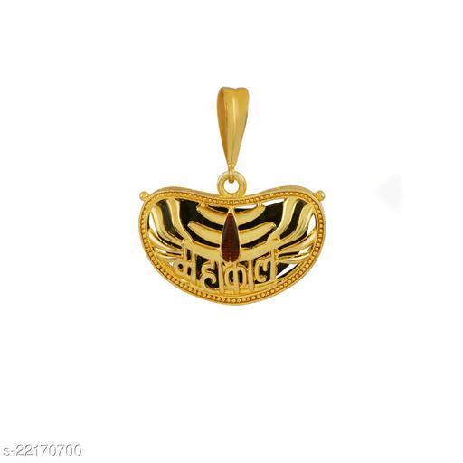 SILVER SHINE Gold Plated Classic designer Pendant Locket Mahakal Pendant Jewellers For Man And Boy