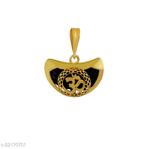 SILVER SHINE Gold Plated Classic designer Pendant Locket OM Pendant  Jewellers For Man And Boy