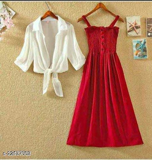 Women Fit and Flare RED Dress