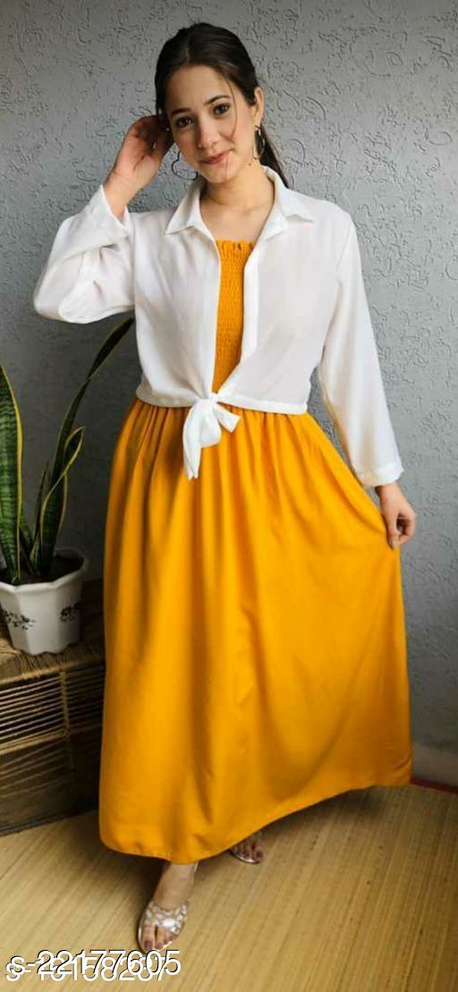 Women Fit and Flare MUSTARD Dress