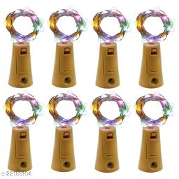 20 LED Wine Bottle Cork Lights, Copper Wire String Lights, 2 Meter Battery Operated Fairy Lights, Wine Bottle DIY, Christmas, Wedding Party (Multicolor, Pack of 8)