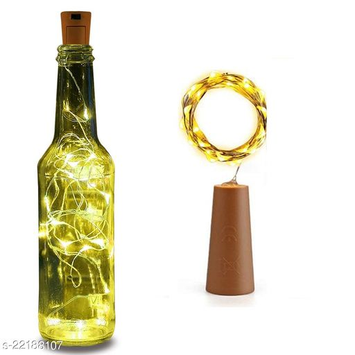 20 LED Wine Bottle Cork Lights, Copper Wire String Lights, 2 Meter Battery Operated Fairy Lights, Wine Bottle DIY, Christmas, Wedding Party (Warm White, Pack of 1)