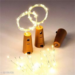 20 LED Wine Bottle Cork Lights, Copper Wire String Lights, 2 Meter Battery Operated Fairy Lights, Wine Bottle DIY, Christmas, Wedding Party (Warm White, Pack of 3)
