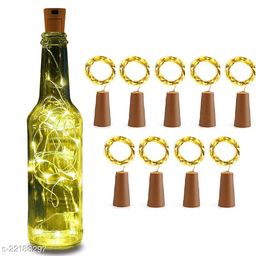 20 LED Wine Bottle Cork Lights, Copper Wire String Lights, 2 Meter Battery Operated Fairy Lights, Wine Bottle DIY, Christmas, Wedding Party (Warm White, Pack of 9)