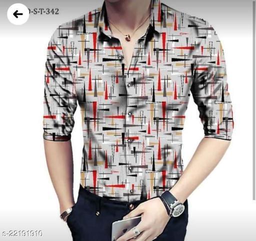 Arha Trendy Multicolor Printed Cotton Linen Shirt