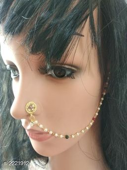 Women's Alloy Gold Plated Nosepins