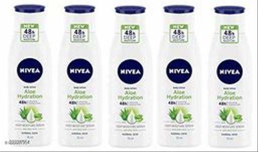 Nivea Aloe Hydration Body Lotion Combo Pack Of 5 (75ml Each)
