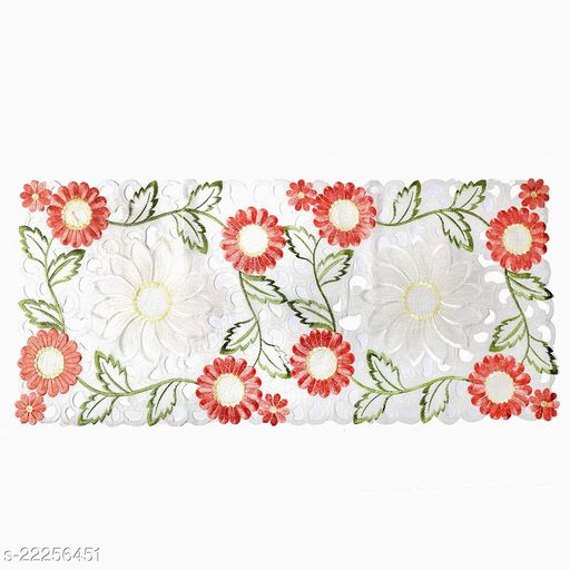 Sunflower Design Centre Table Runner(Size-33x15 Inches.)Peach Color