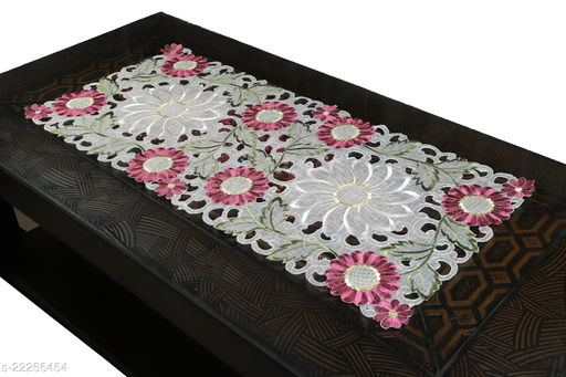 Sunflower Design Centre Table Runner(Size-33x15 Inches.)Pink Color