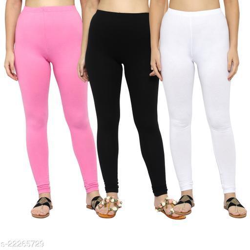 MYO Plain Cotton Legging for girls & Womens Pack of 3