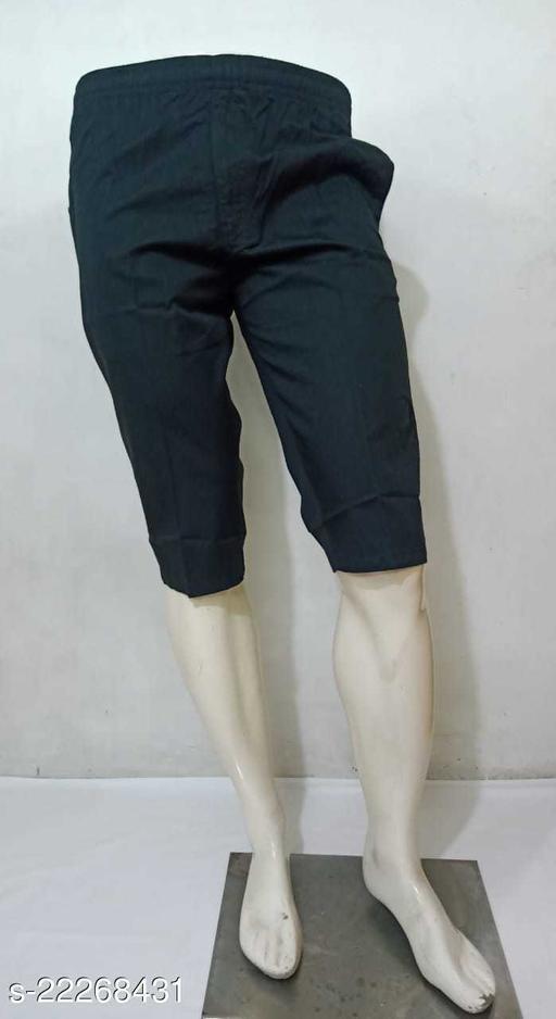Sapper Black Cotton 3/4 Shorts