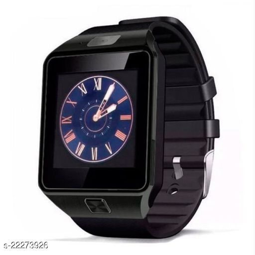 DZ09 Black Phone Black Stylish Smartwatch 4G (Black Strap Free)