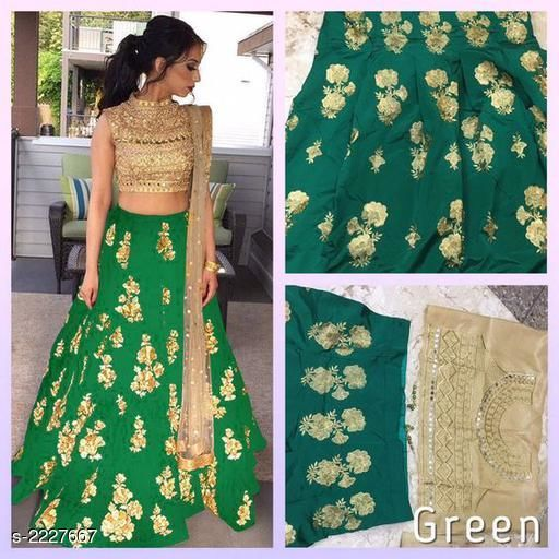 Gorgeous Taffeta Silk Women's Lehenga