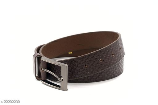 Leather Belts For Men, Mens Belt For Suits, Jeans, Dress, Uniform With Single Prong Buckle,[It Comes With An Attractive Gift Box]