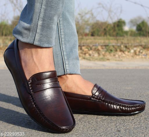 Trendy Men's Loafer Shoe In Alert Sole