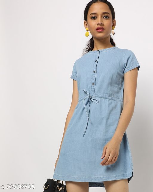 Shirt Dress with Waist Tie-Up