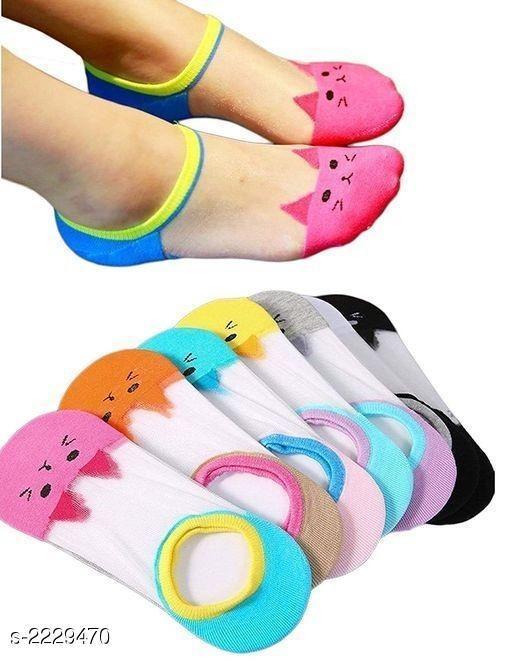 Women's Fancy Cute Socks (Pack of 4)