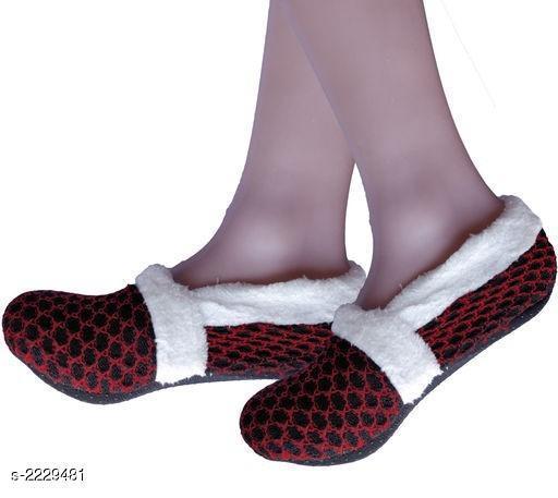 Comfortable Knitted Printed Women's Non-Slip Socks