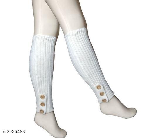 Womens Winter Warm Soft Knitted Twist Leg Warmer
