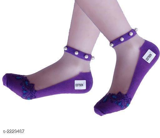 Women's Beautiful Cotton Silk Socks