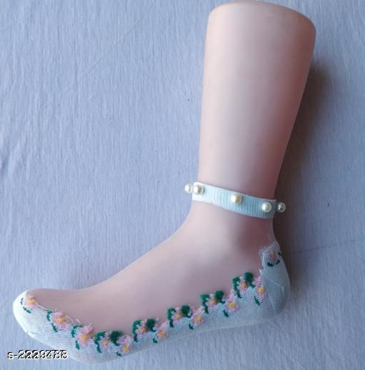 Stylish Ankle Length Cotton Silk Sock