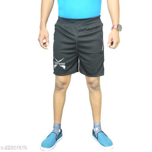 Men Black Regular Fit Shorts