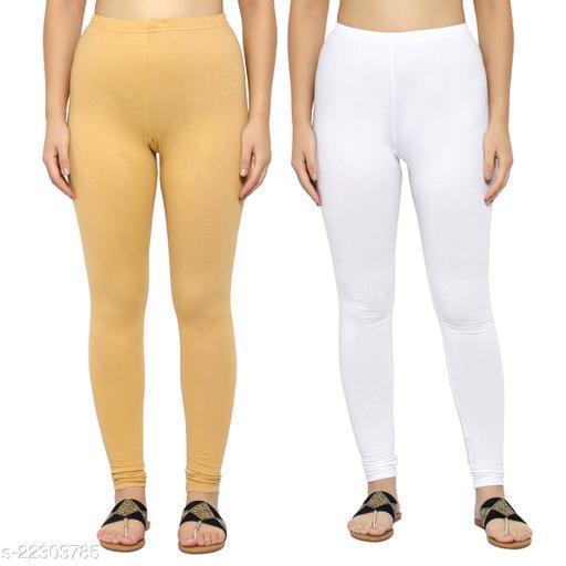 MYO Plain Cotton Legging for girls & Womens Pack of 2