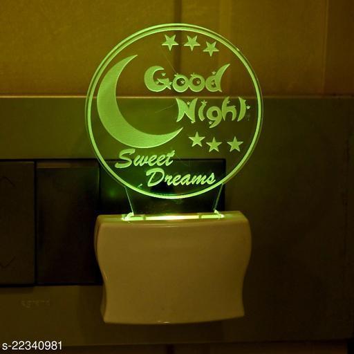 Afast 3D Illusion Good Night Multi Colour LED Night Lamp