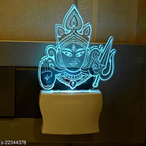 Afast Goddess Durga Kali 3D Illusion LED Plug & Play Wall Lamp