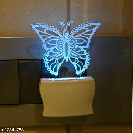 Afast Beautiful Butterfly Flying 3D Illusion LED Plug & Play Wall Lamp