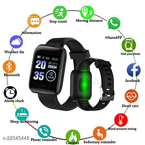 Bluetooth Smart ID116-S_S01 Fitness Band With Daily Activity Tracker