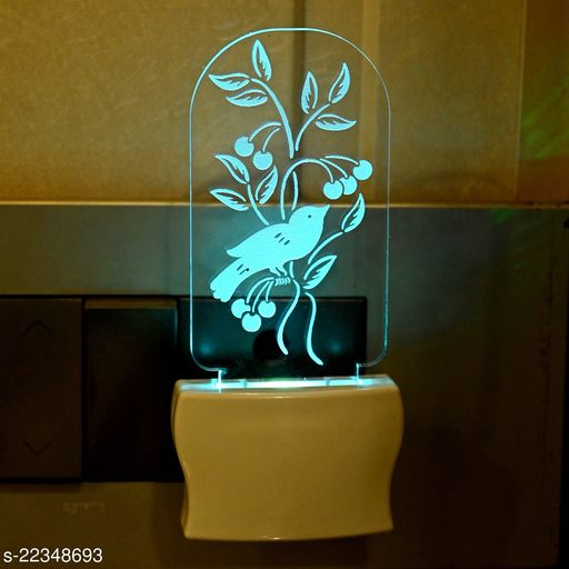 Afast 3D Illusion Beatiful Sparrow LED Plug & Play Wall Lamp