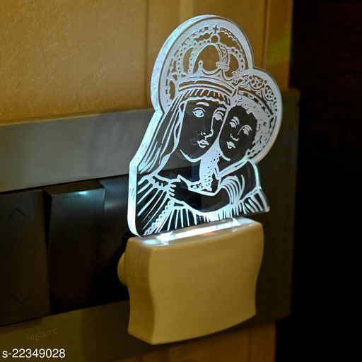 Afast 3D Illusion Beautiful Queen With Her Baby LED Plug & Play Wall Lamp