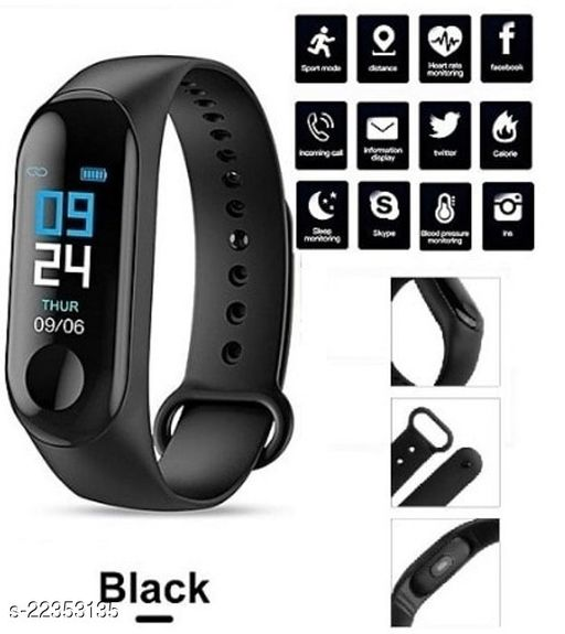 M3-SPL1 Fashion Smart Fitness Band, Activity Tracker, Calories Count, Reminder, Masagess And Notifications Alert for Unisex