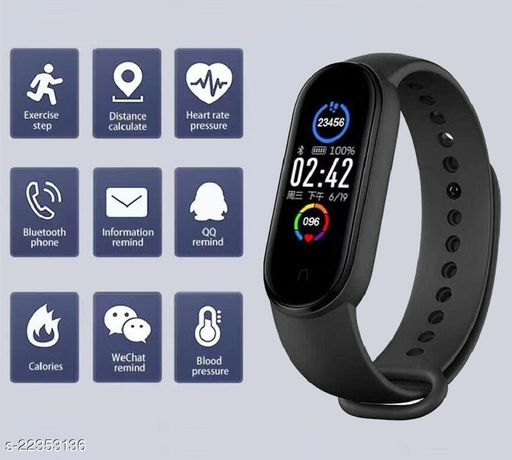 M5-SPL1 Fashion Smart Fitness Band, Activity Tracker, Calories Count, Reminder, Masagess And Notifications Alert for Unisex