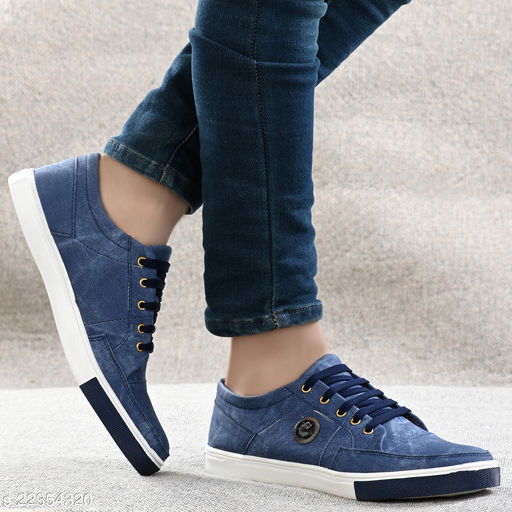 Attractive Men's Blue Casual Shoes